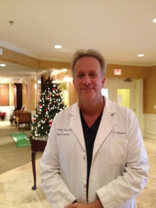 Dr. Michael Lange inside Lange Eye institute in the Villages Florida